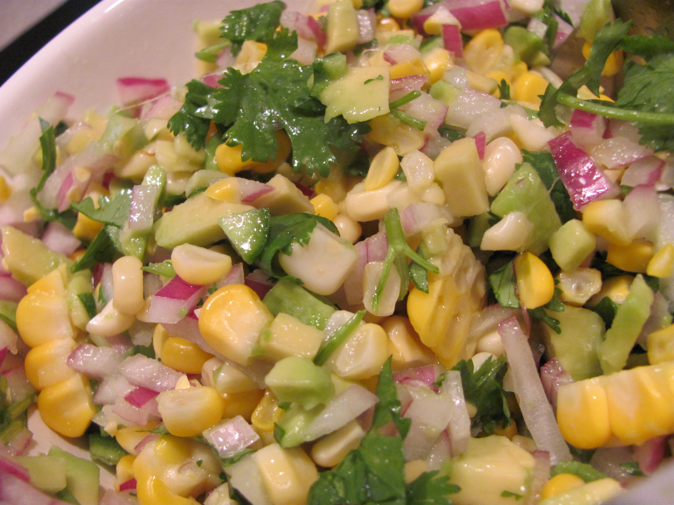Avocado & Roasted Corn Salsa Recipe — Dishmaps